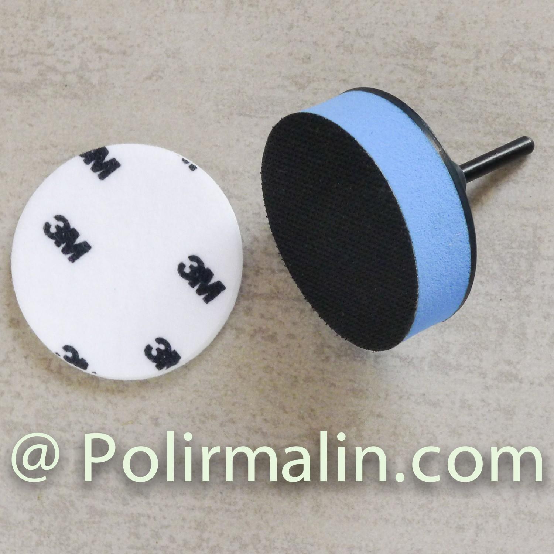Feutre 125mm auto-agrippant www.polirmalin.com spécialiste du polissage, de l'ébavurage et du brossage