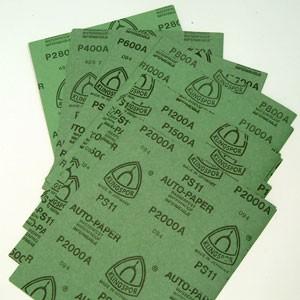 8x6 feuilles papier abrasif
