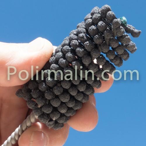 Spiral Rolls 6x25x3mm www.polirmalin.com spécialiste du polissage, de l'ébavurage et du brossage