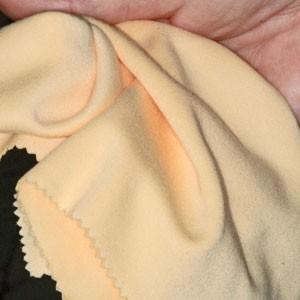 Tissu polissage chamois