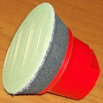 Plateau-support 50mm m14 www.polirmalin.com spécialiste du polissage, de l'ébavurage et du brossage
