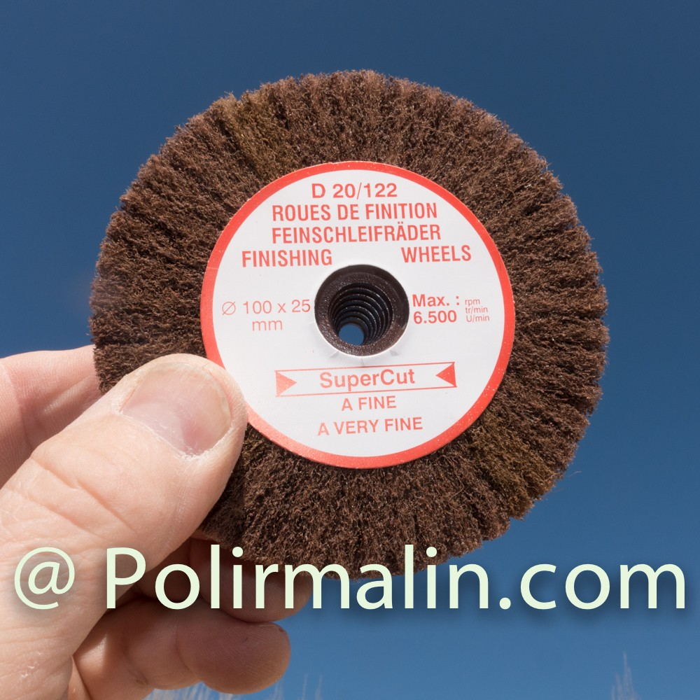Nylon abrasif 40mm www.polirmalin.com spécialiste du polissage, de l'ébavurage et du brossage