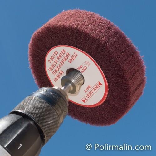 Coton 200mm www.polirmalin.com spécialiste du polissage, de l'ébavurage et du brossage
