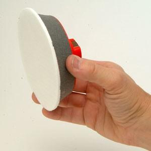 Plateau-support à tige de 6mm pour ø autocollants 50mm  - vendu par 3
