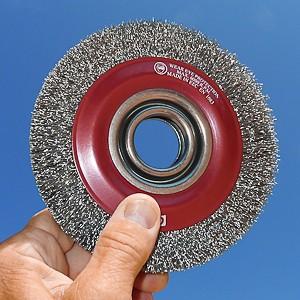 Brosse 150mm fils acier