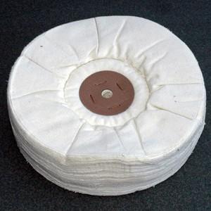 Peau de CHAMOIS ø100x13mm. pour montage sur filet conique
