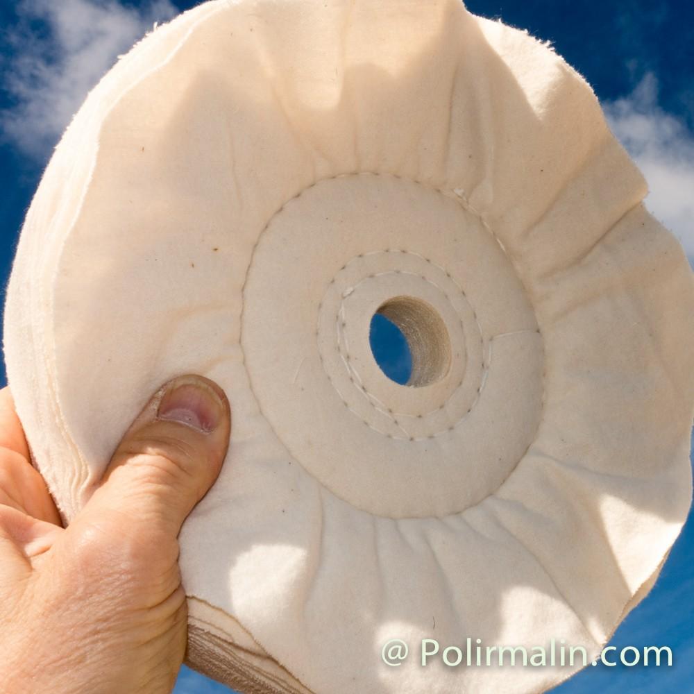 Flanelle 300 www.polirmalin.com spécialiste du polissage, de l'ébavurage et du brossage