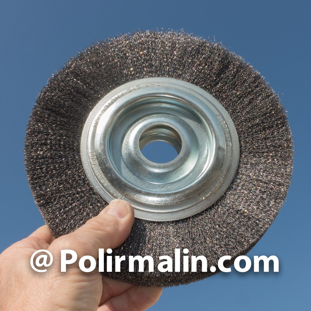 Brosse 200mm fils acier
