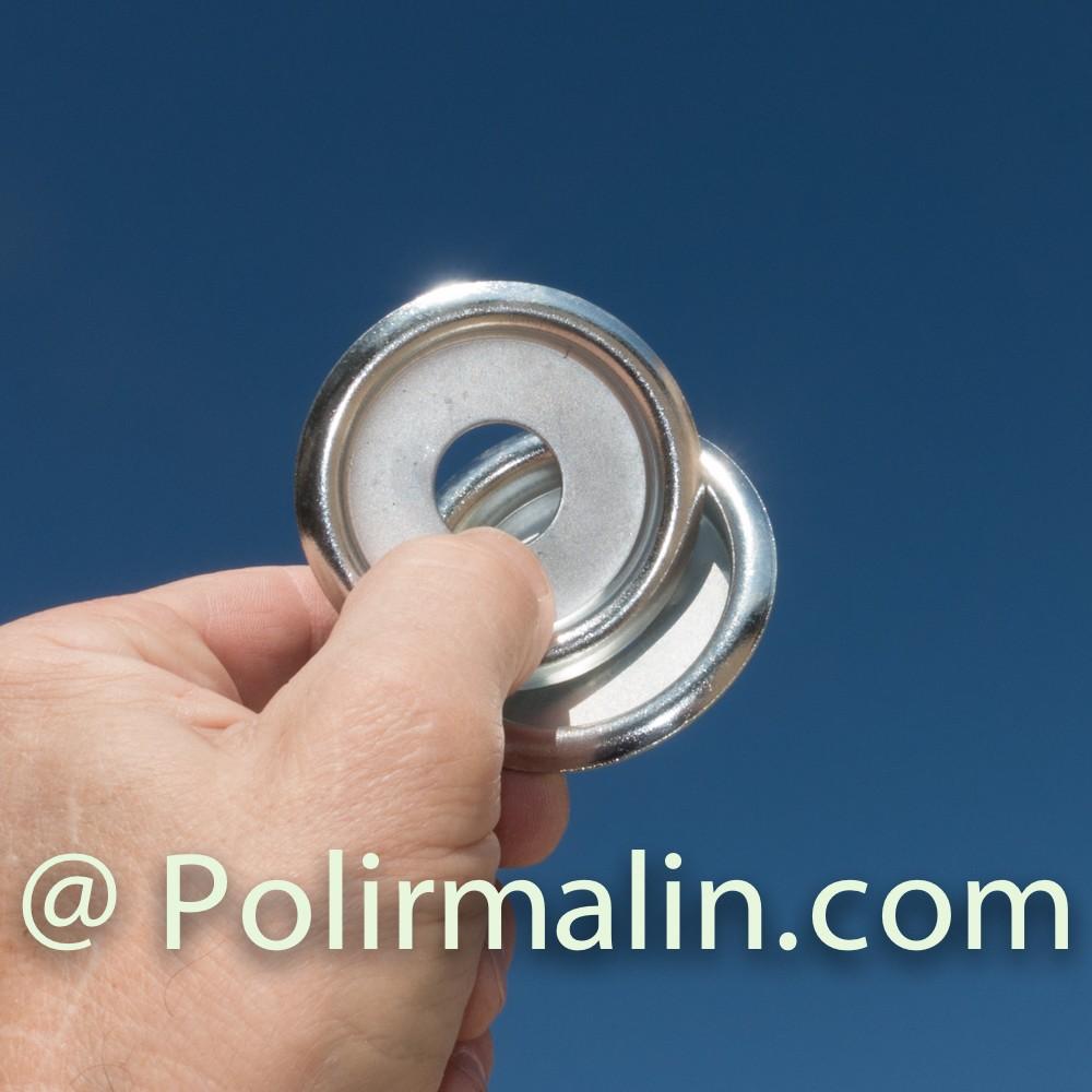 Roue a lamelles avec filet 25 mm www.polirmalin.com spécialiste du polissage, de l'ébavurage et du brossage