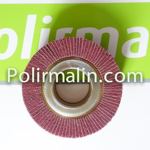 Roue combinée à lamelles toile et nylon abrasif