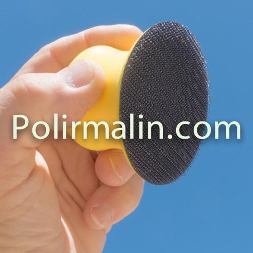 Frotte à main pour disque de 75 mm.