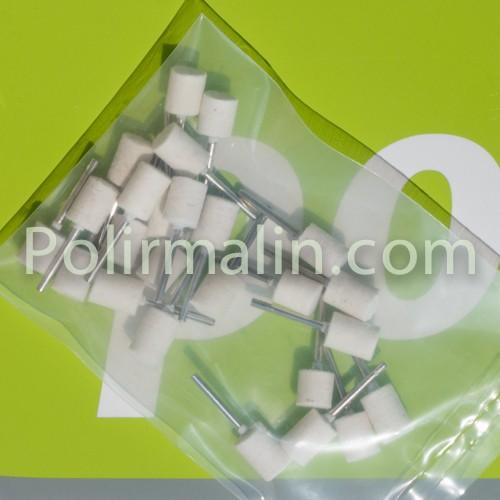 FEUTRE sur tige de 3mm - www.polirmalin.com spécialiste du polissage, de l'ébavurage et du brossage