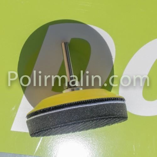Plateau-support 25mm velcro tige 3mm polirmalin.com spécialiste du polissage, de l'ébavurage et du brossage