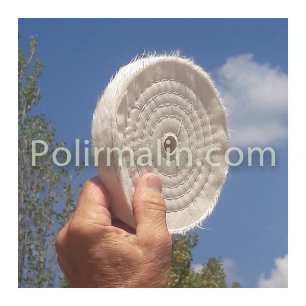 Roue a lamelles de toile abrasive www.polirmalin.com spécialiste du polissage
