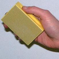 Support a tige 6mm.pour coton cousu de 45 et 60mm. www.polirmalin.com spécialiste du polissage, de l'ébavurage et du brossage.