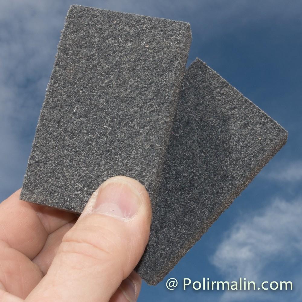 Coton 25x20x2.5mm. www.polirmalin.com spécialiste du polissage, de l'ébavurage et du brossage.
