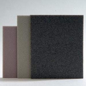 10 Tampons abrasifs mousse 140x115x5mm. - Gr. 150, 240 ou 320