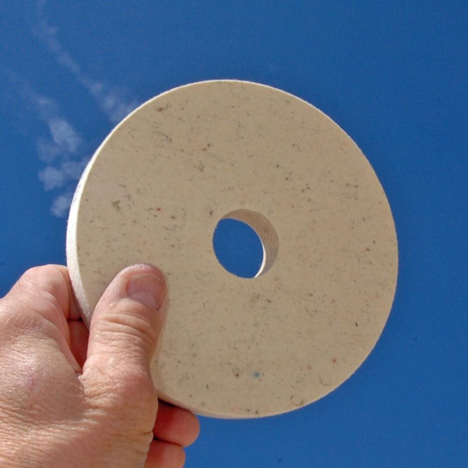 Feutre 150x20x32mm. pour polissage www.polirmalin.com spécialiste du polissage, de l'ébavurage et du brossage