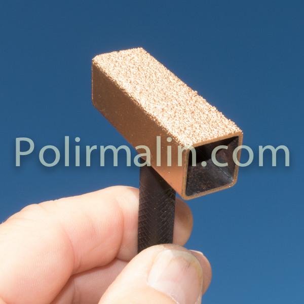 Tige 6x135mm pour Coton cousu www.polirmalin.com spécialiste du polissage, de l'ébavurage et du brossage