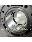 Flanelle 150mm sur tige de 6mm www.polirmalin.com spécialiste du polissage, de l'ébavurage et du brossage