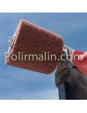 Touret de polissage 200mm arbre long www.polirmalin.com spécialiste du polissage, de l'ébavurage et du brossage.