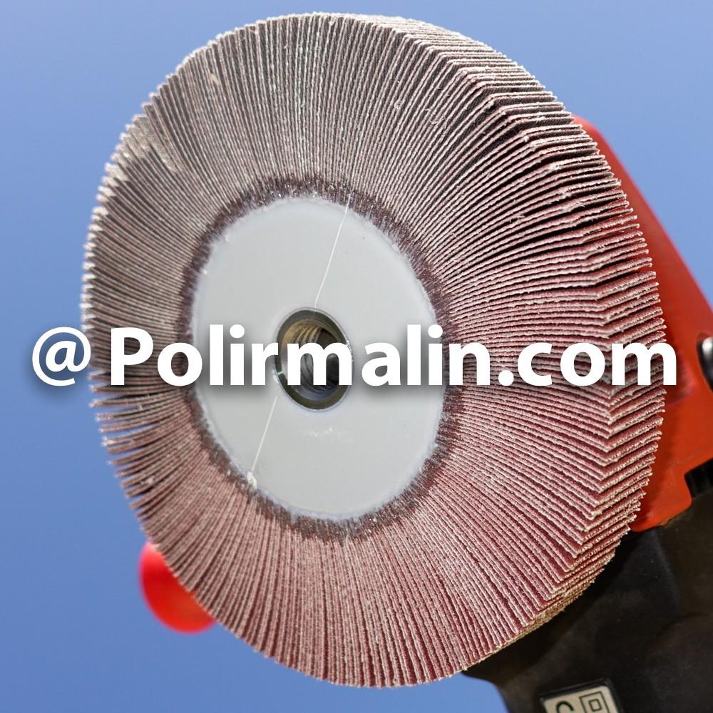 Roue a lamelles de toile abrasive 125x20xM14 pour meuleuse