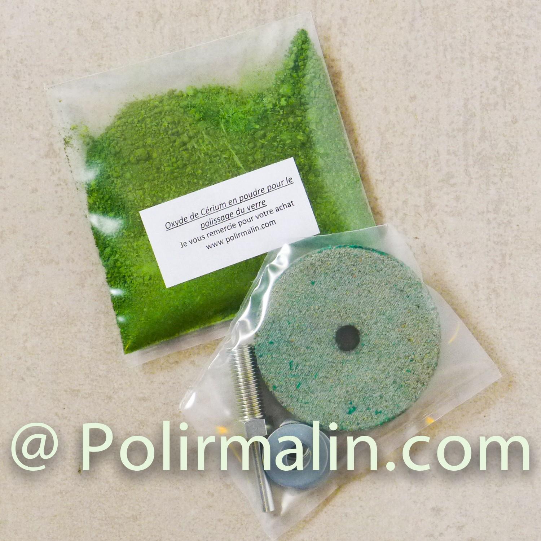 GLASS Polishing Fluide cerium www.polirmalin.com spécialiste du polissage, de l'ébavurage et du brossage